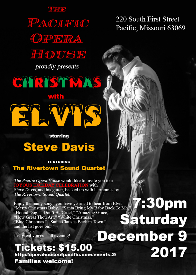 christmas poster of elvis