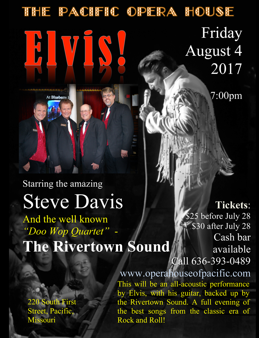 Elvis poster Pacific- tickets