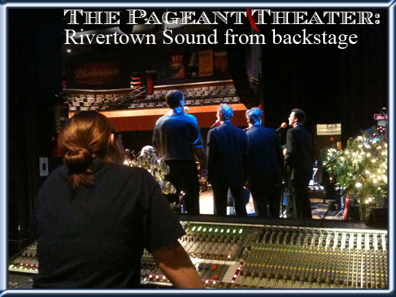 Pageant - backstage from sound board